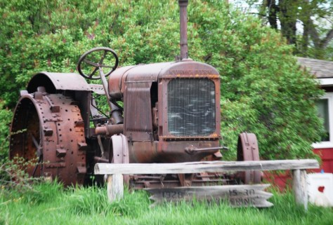 An old tractor at rest in Dupuyer, Montana