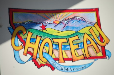 A wall mural in Choteau, Montana