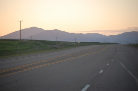 Sunrise near the Highwood Mountains east of Great Falls