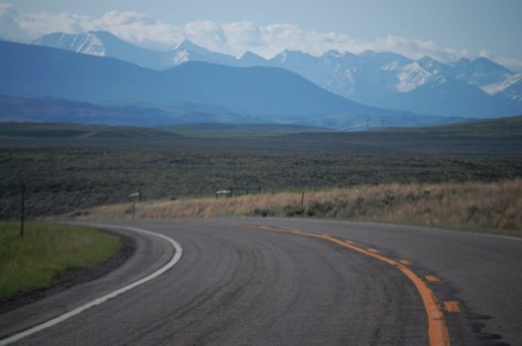 US 89 and the Crazy Mountains in Montana