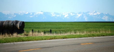 Mountains from US 89 near Wilsall, Montana