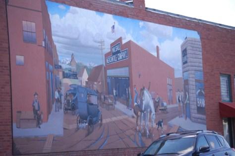 Wilsall Mural in Wilsall, Montana