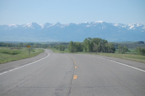 US 89 just south of Clyde Park, MT