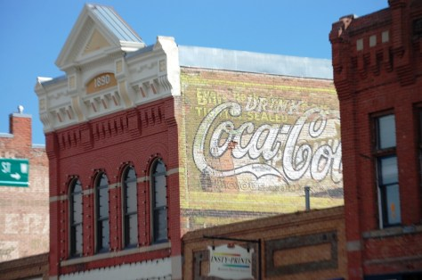 Old Coca Cola Ghost sign in Livingston, Montana