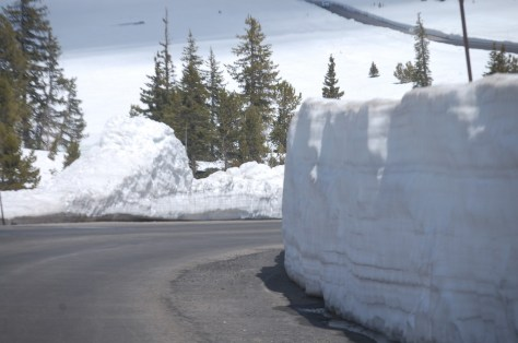 Walls of snow continue along the Beartooth Highway
