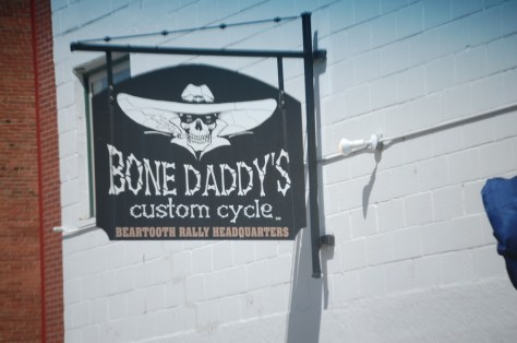 Took this photo for all of my cycle friends (you know who you are) - Bone Daddy's Custom Cycle in Red Lodge