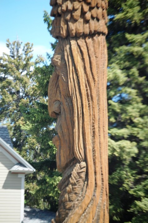 """Detail of the """"Whispering Giant"""" of Red Lodge."""