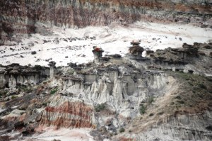 A view of the Hell's Half Acre scarp, Wyoming