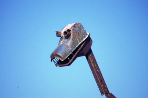 Dinosaur Head with sharp teeth