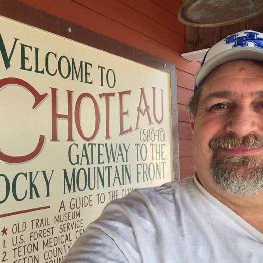Welcome to Choteau, Montana sign