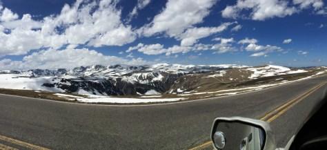 Panoramic Scene of Beartooth's at 11,000 feet
