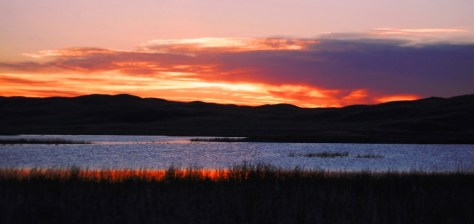 Sunset over Beem Lake in the Sandhills of Nebraska...