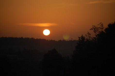 Sunrise as seen from the Western Kentucky Parkway near Leitchfield, KY