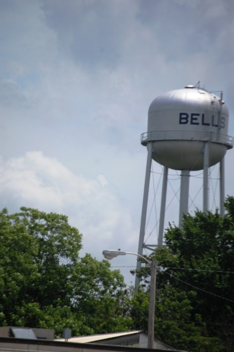 Bells, Tennessee water tower