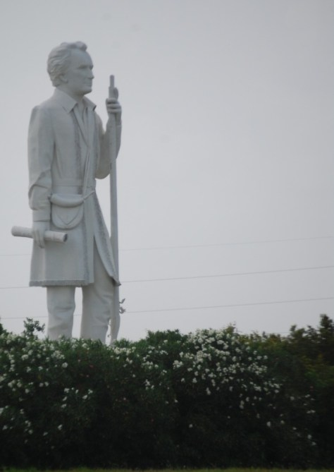 Stephen F. Austin Statue as seen from Highway 288