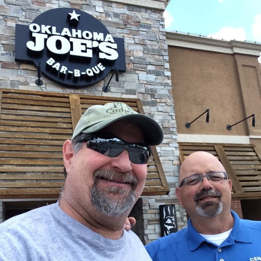 Stopping in KC to enjoy lunch with my good friend Brad Sweeten at Oklahoma Joe's