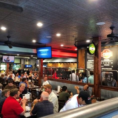 Inside of Oklahoma Joe's - nice atmosphere, great food and big portions