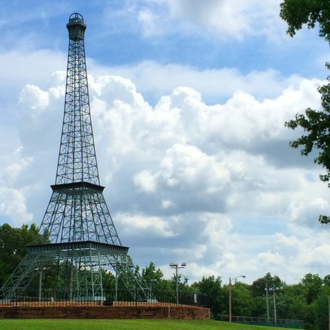 Eiffel Tower in Tennessee goes to 70 feet in 1998