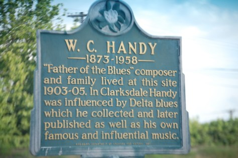 Historical Marker for W.C. Handy on Issaquena Rd. in Clarksdale, MS