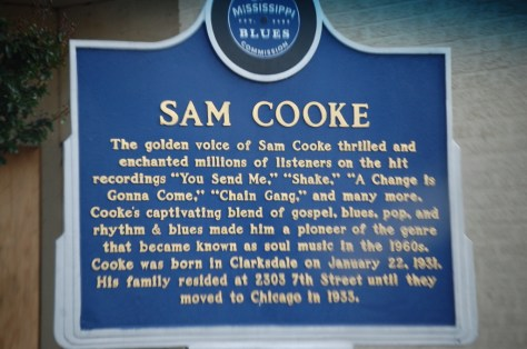 Blues Road Marker for Sam Cooke in Clarksdale, MS