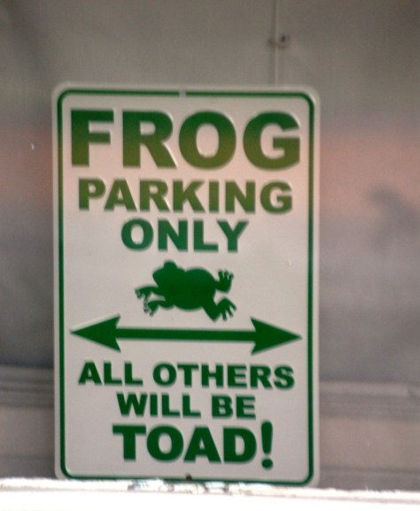 Frog Parking only in Leland, MS