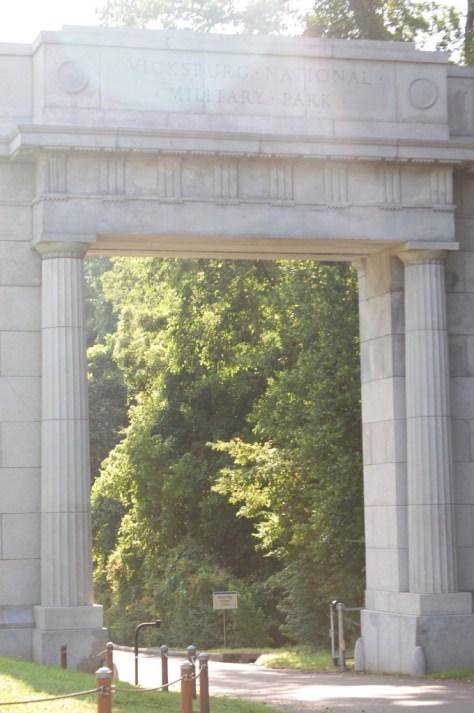 Entry arch at Vicksburg