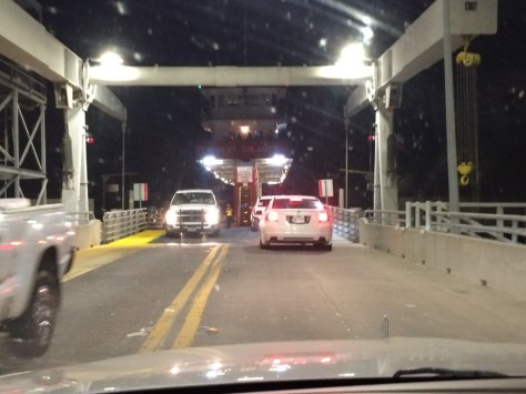 Exiting the Ferry into Galveston