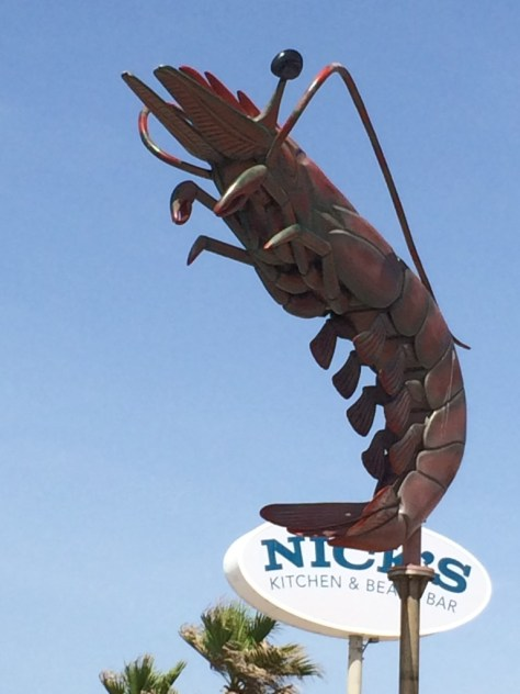 Giant Crawfish at Nick's in Galveston