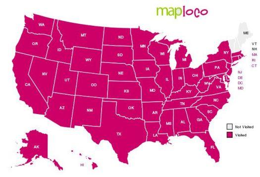 MapLoco States I Have Visited