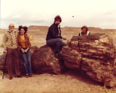Sumoflam and tourists at Petrified Forest in 1983