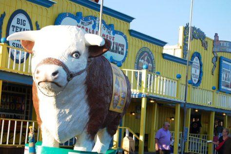 Big Bull outside of Big Texan Steak Ranch in Amarillo, TX