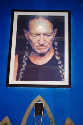 Willie Nelson Portrait above his shrine