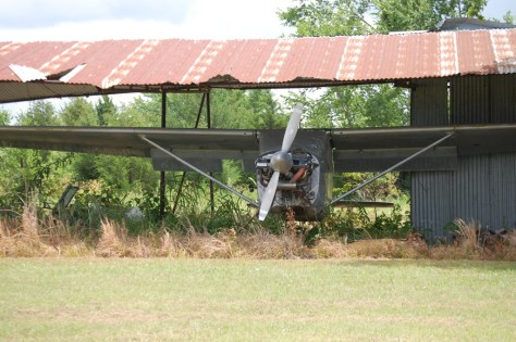 Old Prop plane at Flying Tigers Air Museum