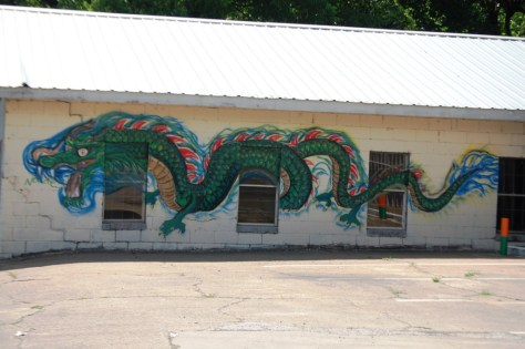 Dragon Mural in Broken Bow, OK
