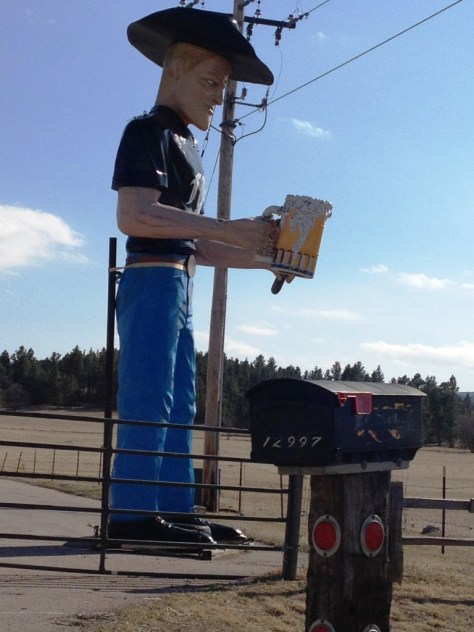 Muffler Man with mug of beer in Sturgis, SD.