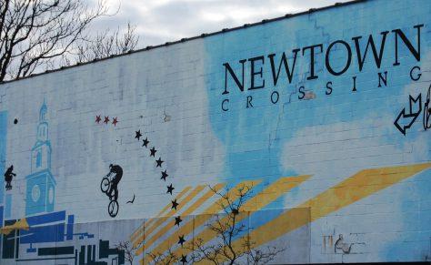 Newtown Crossing wall mural, Lexington, KY