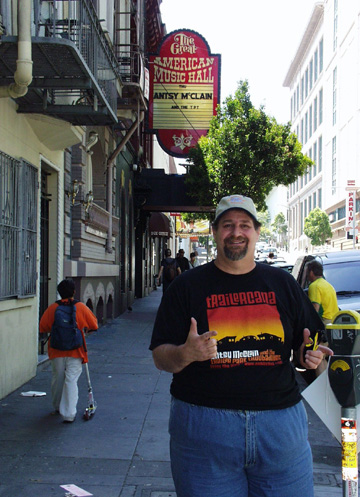 I got to visit the Great American Music Hall in San Francisco as part of Antsy McClain's tour team.  Great music hall