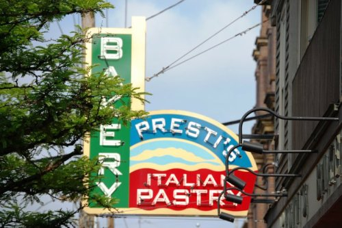 Prestis Bakery....the best cannoli in the world!!  And some other good Italian goodies