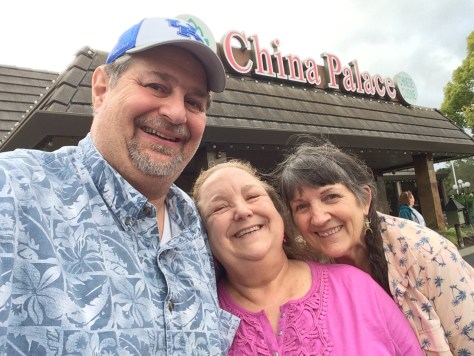 After dinner photo with Ione and Carla at the China Palace in Novato.  The meal was excellent...the company was amazing!!