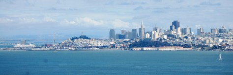 San Francisco as seen from across the Golden Gate Bridge