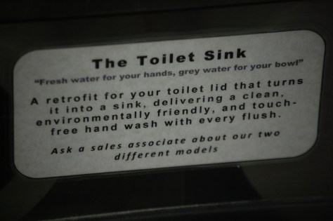 The Toilet Sink sign...there were none here...