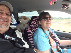 Riding with Carla and her little dog...we were Enjoying the RIde!