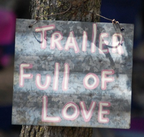 Trailer full of Love sign...yes, another lyric
