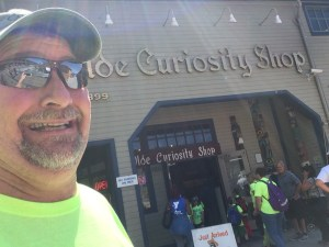Visiting Ye Olde Curiosity Shop on the waterfront in Seattle
