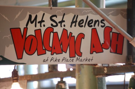 Yes, there is Volcanic Ash Art at Pike Place Market