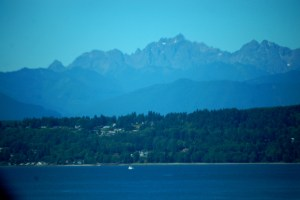 Mount Olympus and Olympic National Park as seen from Hwy 104