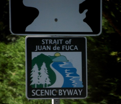 Strait of Juan de Fuca Scenic Highway is definitely scenic but certainly is NOT straight