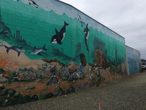 One of a few large murals to be found in Port Orchard, WA