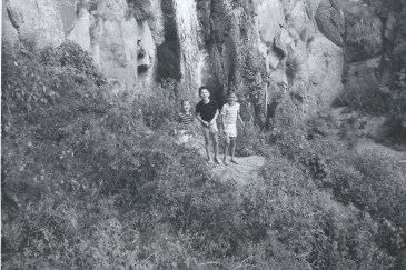 With my brothers Aaron and Danny in New Mexico around 1961