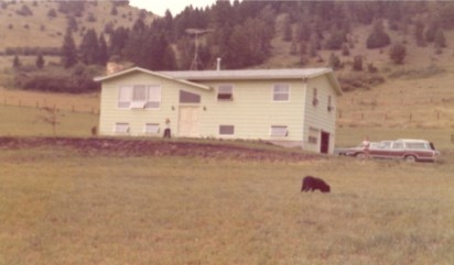 Our house in Bozeman, MT in 1973. It was located in Bear Canyon, south of town.
